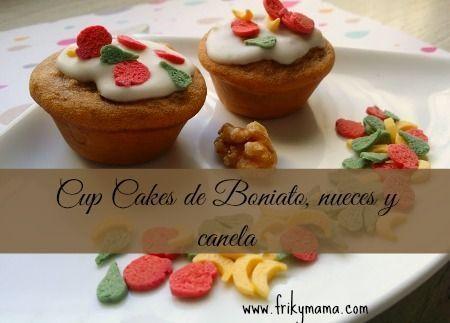 Cup cakes de boniato, nueces y canela