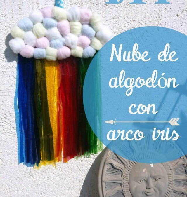#Retofbc: Diy nube de algodón con arco iris