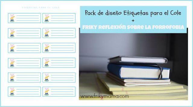Pack de diseño: Etiquetas para material escolar