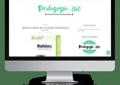 Diseño en Blogger «Pedagogía 350»