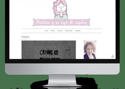 Diseño blog en blogger «Martina y su caja de zapatos»