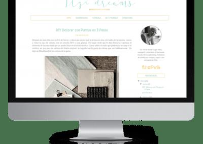 """Diseño en Blogger """"Itzidreams"""""""