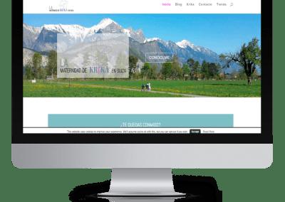 Diseño en WordPress La maternidad de krika en Suiza