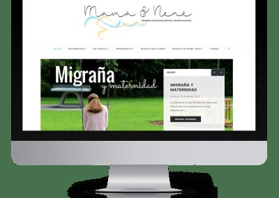 Diseño en blogger «Mamá & Nené»