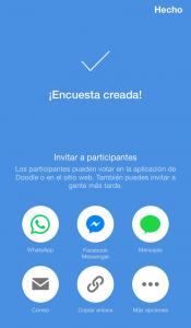 Coordinar eventos con app Doodle