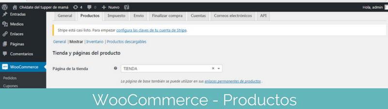Los productos en WooCommerce en pasos para crear una tienda online