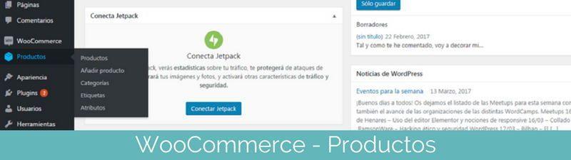 Configurar productos en WooCommerce en pasos para crear una tienda online