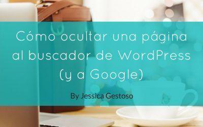 Cómo ocultar una página al buscador de WordPress (y a Google)