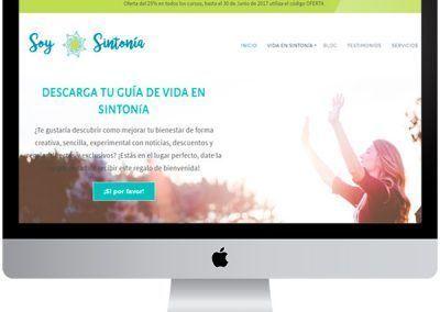 Diseño en WordPress Soy Sintonía