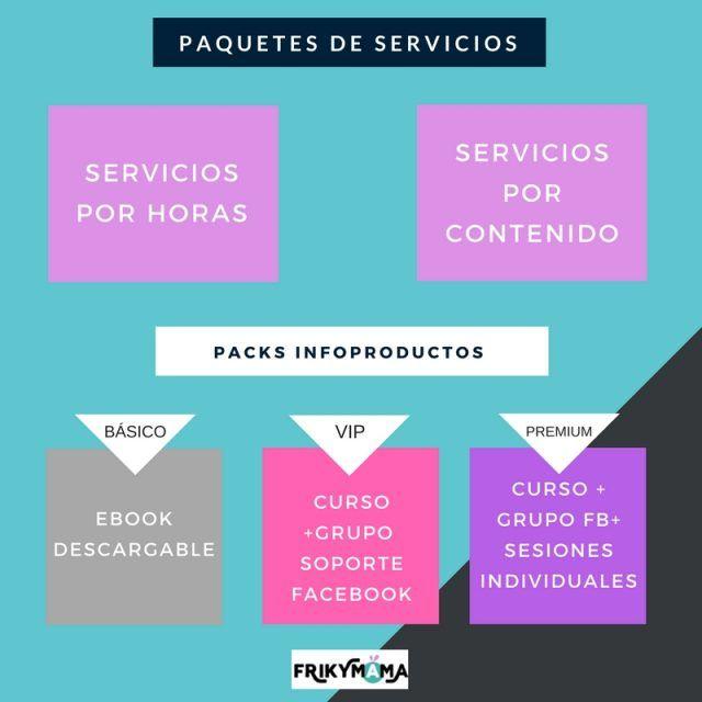 packs servicios e infoproductos
