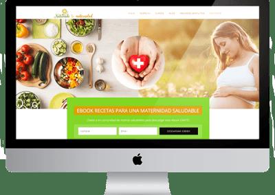 Diseño en wordpress «Nutriendo tu martenidad»