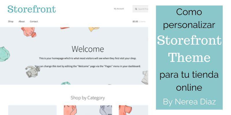 personalizar la plantilla Storefront