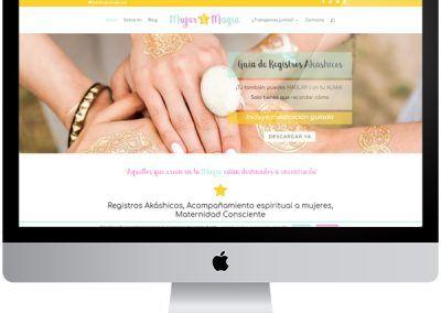Diseño web Mujer y magia
