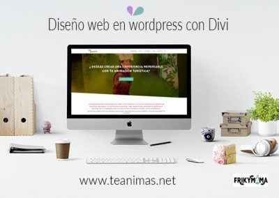 """Diseño web en wordpress """"Teanimas.net"""""""