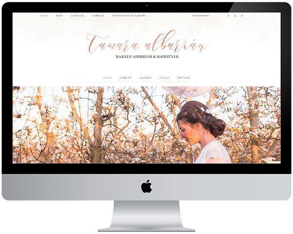 Diseño en wordpress «Tamara Albarrán»