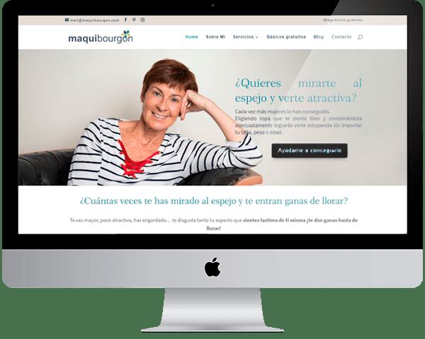 Diseño web Maqui Bourgon