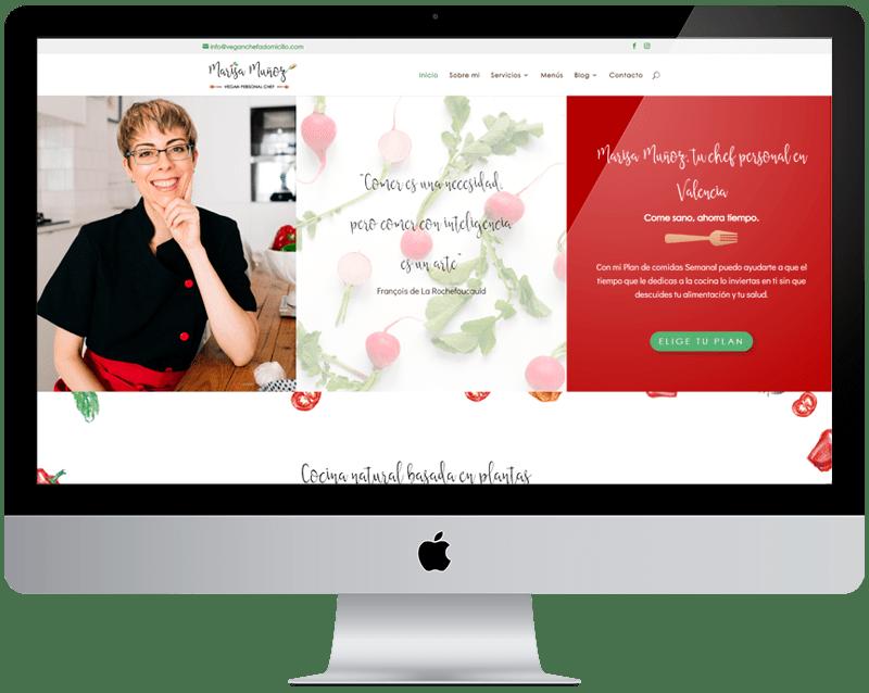 Diseño web Veganchefadomicilio
