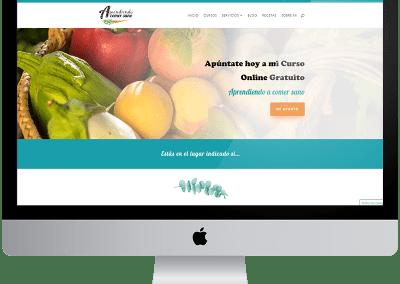 Diseño web Aprendiendo a comer sano