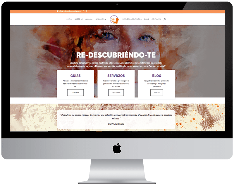 "Diseño wordpress ""Redescubriéndote"""
