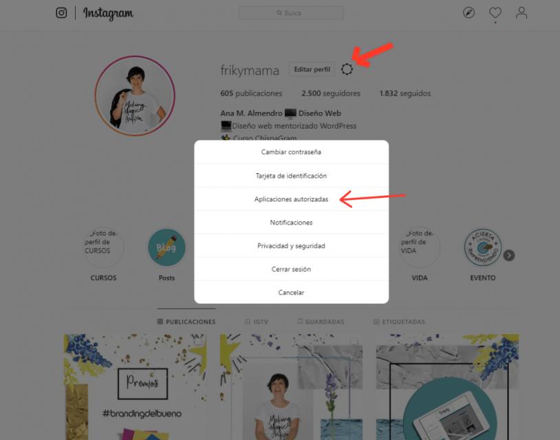 aplicaciones no autorizadas instagram