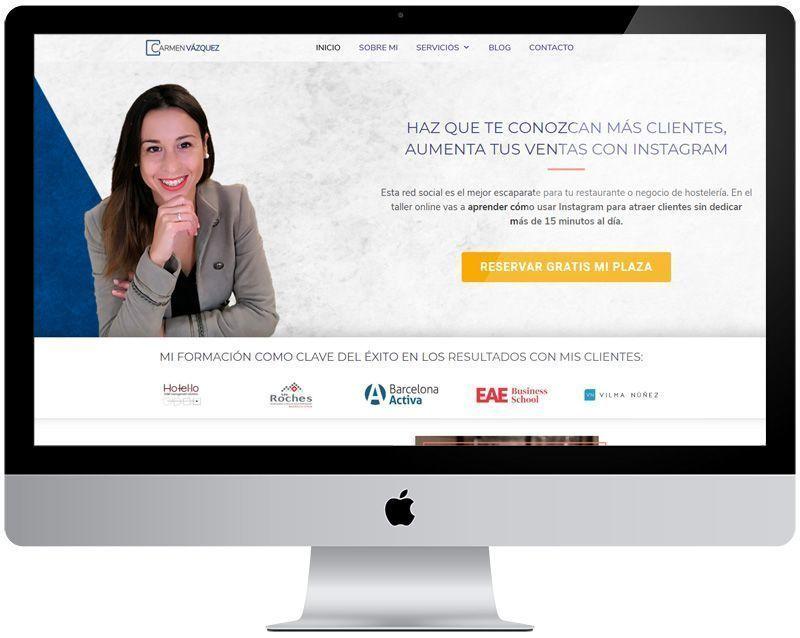 "Diseño wordpress ""Carmen Vázquez Group"""