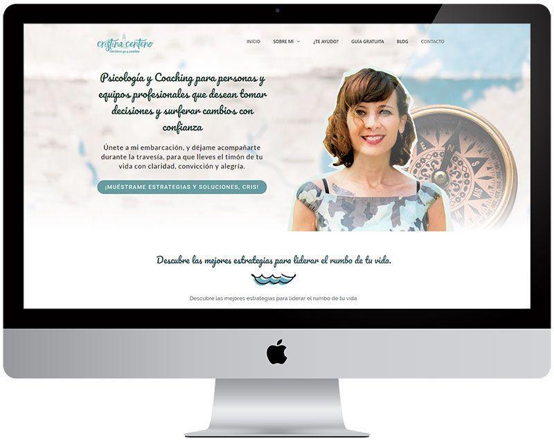 Diseño web en wordpress «Cristina Centeno»
