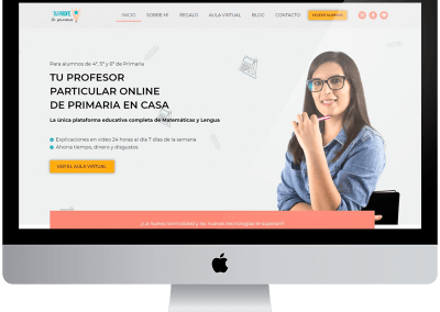 Diseño web wordpress «tu profe de primaria»