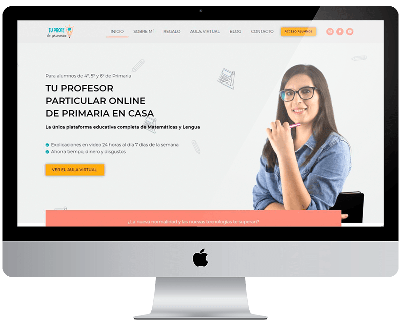 Diseño web wordpress «tu profe de primaria»