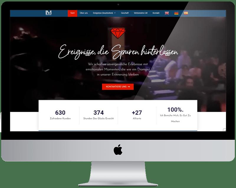 Diseño web L. M. producciones